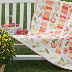 GO! Pomegranate Quilt by Alex Anderson - http://www.accuquilt.com/go-pomegranate-quilt.html