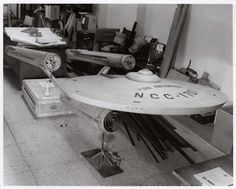 The model of the Enterprise was sent to the museum in crates, donated by Paramount Studios five years after the series ended