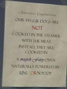 Is unicorn poop vegitarian?