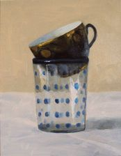 "Selby Fleetwood Gallery || Olga Antonova ""Dark Blue Cup in Polka Dot Glass"""