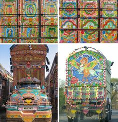 Amazing how much art we have all around us if you just look for it. Amazing truck art in Pakistan!    From weburbanist.com