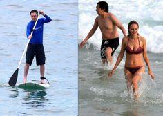 Ed Helms, intérprete do engraçado Stu, aproveitou a praia de Ipanema para praticar 'stand up paddle'. Já Heather Graham e o colega Ken Jeong decidiram se refrescar nas águas do mar. Aos 43 anos, a atriz exibiu um belo corpo