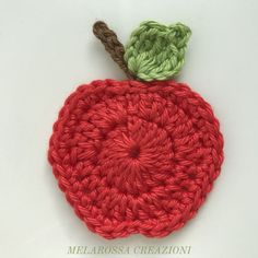 Red apple appliquè by Elisa Valoroso