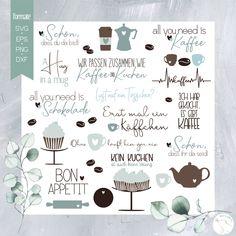 "Plotterdatei ""Kaffeezeit + Box + Papiere"" - beemybear Kaffee To Go, Silhouette Portrait, Silhouette Files, Wood Blocks, Kindergarten, Diagram, Printables, Projects, Prints"