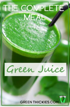 This complete meal green juice is a balanced healthy green drink you can whip up in minutes and will give you a substantial amount of protein.