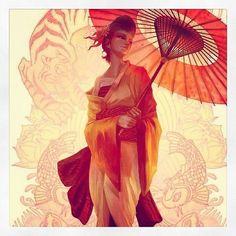 #Geisha #Japan #art
