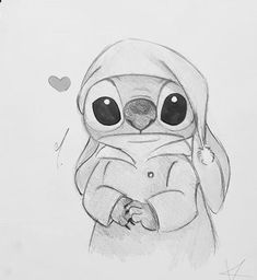 Draw Disney Cute Stitch ideas for 2019 - Stitching Projects Disney Character Drawings, Disney Drawings Sketches, Cute Disney Drawings, Art Drawings Sketches Simple, Cartoon Drawings, Animal Drawings, Easy Drawings, Pencil Art Drawings, Drawing Disney