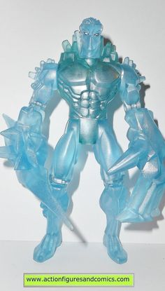 Toy Biz action figures for sale to buy: Marvel SUPER HEROES 1997 ICEMAN (Fire/Ice variant) 100% COMPLETE Condition: Overall excellent - nice paint, nice joints, nothing broken, damaged, or missing Fig