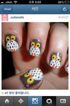 Owl nail