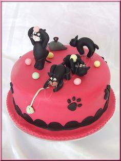 Bonsoir, aujourd'hui je vous présente un gâteau que j'ai réalisé il y a déjà quelque temps pour mettre en exemple sur mon site professionnel. Gâteau d'anniversaire