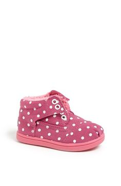 TOMS 'Botas - Tiny' High Top Sneaker - ADORABLE!!  http://rstyle.me/n/eaz3unyg6
