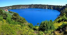 The Blue Lake Lookout of Mount Gambier, South Australia