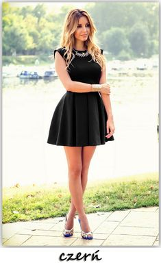 Elegant and Pretty Short Dresses You Must Love - Pretty Designs Pretty Short Dresses, Navy Blue Short Dress, Elegant Dresses, Sexy Dresses, Cute Dresses, Beautiful Dresses, Evening Dresses, Fashion Dresses, Summer Dresses