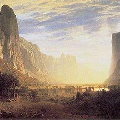 """Albert Bierstadt's """"Looking Down Yosemite Valley"""""""
