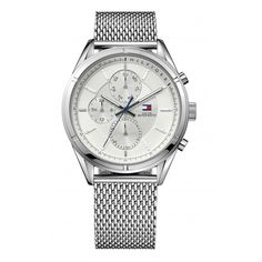 Shop for Tommy Hilfiger Stainless Steel Mens Watch Get free delivery On EVERYTHING* Overstock - Your Online Watches Store! Mesh Bracelet, Bracelet Watch, Bracelets, Tommy Hilfiger Watches, Stainless Steel Mesh, Teak, Watches For Men, Jewelry Watches, Unisex