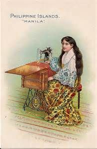 Singer Sewing Machine trade card -- Philippine Islands -- c. 1900 by bjebie, via… Sewing Nook, Love Sewing, Sewing Spaces, Treadle Sewing Machines, Antique Sewing Machines, Vintage Cards, Vintage Postcards, Card Costume, Sewing Cards