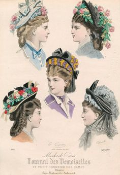 Victorian hair and hats.