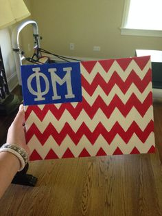 Phi Mu sorority craft American flag