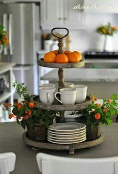Oranges/lantana flowers