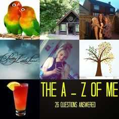 Hayley Louisa Elliott: A - Z of me - 26 questions about me