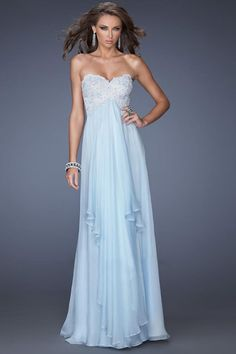 2014 Sweetheart Prom Dress A Line With Beaded Applique Embellished Bodice Chiffon
