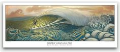 """This 11 inch x 33 inch (27.9 cm x 83.8 cm) Limited Edition Poster Print feature's Jay Alders's surfing painting """"Home Slice"""". We prefer to think of this as an 'Art Pri…"""