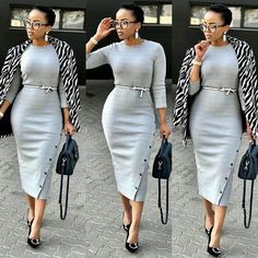 Get the best look of creative latest designs and african fashion styles that are recently trendy and . Classy Work Outfits, Business Casual Outfits, Office Outfits, Classy Dress, Chic Outfits, Dress Outfits, Fashion Outfits, Fashion Styles, African Attire