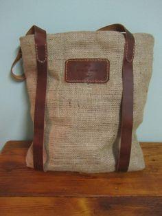 Jute & Leather shopping bag from www.frasermuller.com