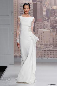 rosa clara wedding gowns 2015 runway saeta lace long sleeve wedding dress