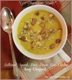 #Butternut Squash, Pear #Soup #Chopped | The Kitchen Chopper