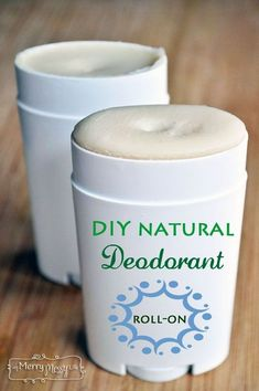 DIY All Natural Deodorant - Roll On and Non-Toxic Recipe #DIY #natural