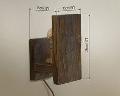 Wooden Chandelier, Wooden Lamp, Wooden Wall Lights, Wall Fixtures, Wall Sconces, Wall Lamps, Ikea Black, Rustic Wall Lighting, Luminaria Diy