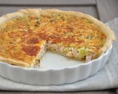 Quiche courgettes-lardons