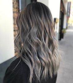 """2,323 Likes, 73 Comments - KY COLOR { ista } (@kycolor) on Instagram: """" Ash grey transformation Started with 6"""" regrowth and an ombre over box dye ends. ️Toned with…"""""""