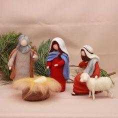 Nativity Ornaments, Christmas Nativity Scene, Felt Christmas Ornaments, Christmas Gifts For Kids, Christmas Decorations, Nativity Scenes, Christmas Bells, Etsy Christmas, Needle Felted Animals