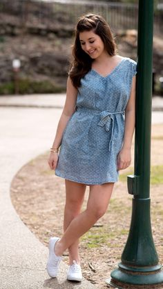 Darling in Denim Dress – I Do Declare Boutique Free Shoot, Lace Dress, Dress Up, Spring Fashion, Women's Fashion, Extra Petite, Chambray, Cool Style, Short Dresses