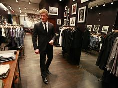 """Landy shopping for his NHL Awards suit - """"You know the difference between you and me? I make this look good."""""""
