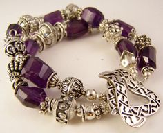 Grape Rocks Double Strand Bracelet Bold by StoneStreetStudio, $349.00