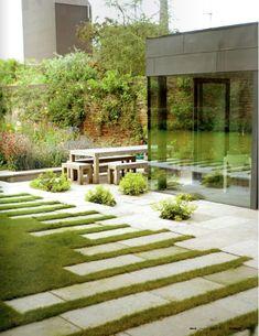 15 So Beautiful Garden Pathway For Every Contemporary Garden Modern Landscape Design, Modern Landscaping, Landscape Architecture, Backyard Landscaping, Modern Patio, Country Landscaping, Landscaping Design, Contemporary Landscape, Contemporary Garden Design