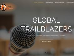Dynamic Website Design >>  Global Trailblazers www.globaltrailblazers.co.za  CREATED BY DESIGN SO FINE