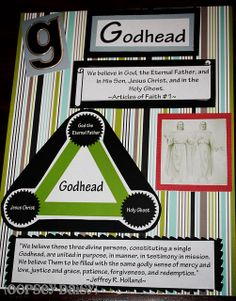 Godhead poster (could be used for YW in January on the bulletin board)
