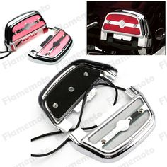 56.88$  Watch now - http://ali926.worldwells.pw/go.php?t=32710333332 - Chrome Motorcycle Clear Lighted Passenger Footrest Floorboard Cover Kit For Harley Softail Harley Touring Chrome Clear 56.88$