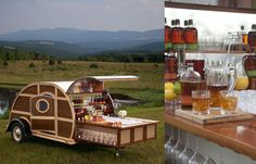 Bulleit Woody Tailgate Trailer - to die for and perfect for the Hunt!