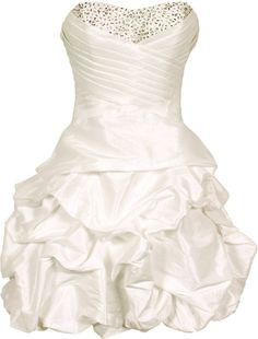 Strapless Short Dress short front long back | Dress | Pinterest