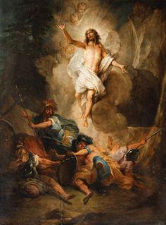 The Resurrection of Christ - Auktionshaus Lempertz Religious Images, Religious Art, Jesus Christ Painting, Religious Paintings, Jesus Resurrection, Biblical Art, Jesus Pictures, Catholic Art, Jesus Is Lord
