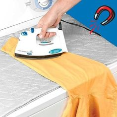 Magnetic Ironing Mat--This is brilliant.  Super space-saver and time-saver.  Fits on top of dryer.  This would be great for ironing things right out of the dryer w/o dragging out the ironing board, especially if you only have one or two things to do.  Love it.  $9.99 on Amazon.