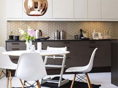 Apartment 132: DIY: The Ever-Clever & Chic Wallpapered Kitchen Backsplash