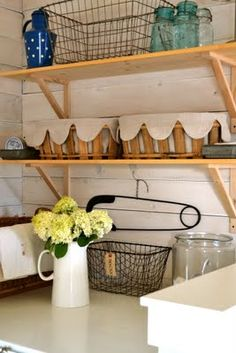 1000 images about everything in it 39 s place on pinterest for Open shelving laundry room
