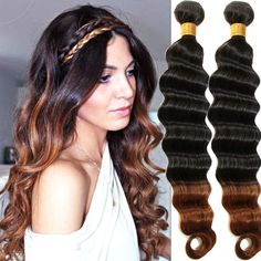 New Brazilian Human Hair Extension Beauty Ombre Deep Wave,100g/pc,Hot sell Wefts #WIGISS #HairExtension