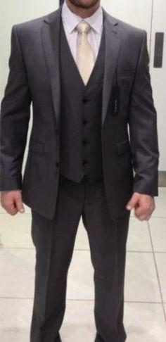 Formal dark grey Grooms suit #fatherofthebrideoutfit #father #of #the #bride #outfit #father #of #the #bride #outfit #grey Dark Grey Groomsmen, Grey Tux, Groom And Groomsmen Suits, Dark Gray Suit, Groom Wear, Bridesmaids And Groomsmen, Groom Outfit, Groom Attire, Bridesmaid Dresses